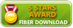 FiberDownload 5-star award